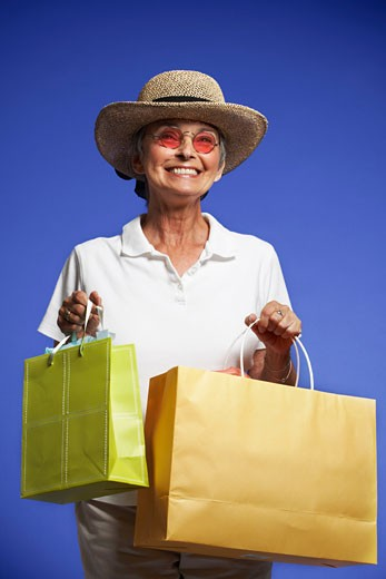 Stock Photo: 1828R-57599 Portrait of Woman Shopping