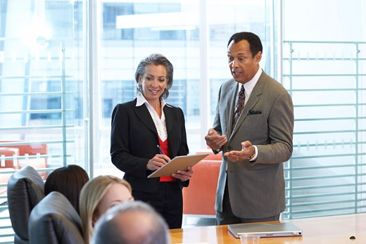 Business Meeting in Boardroom    : Stock Photo