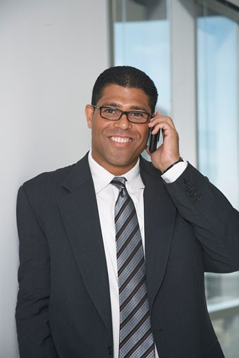 Stock Photo: 1828R-57953 Businessman with Cellular Phone