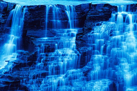 Stock Photo: 1828R-5900 Close-Up of Kakabeka Falls, Kakabeka Falls Provincial Park, Ontario, Canada