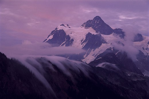 Stock Photo: 1828R-5929 Mount Shuksan and Clouds, Washington, USA