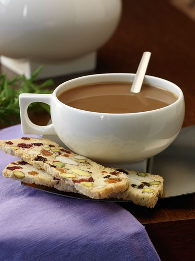 Coffee and Biscotti    : Stock Photo