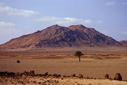 Mountains, Boa Vista Island, Cape Verde    : Stock Photo