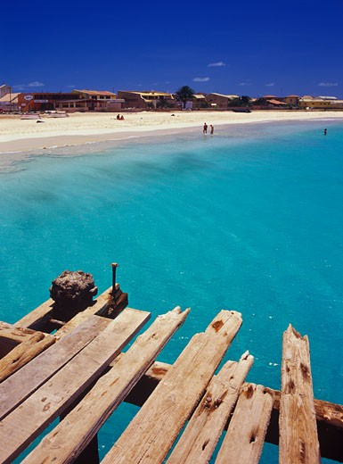 Dock, Santa Maria, Sal Island, Cape Verde    : Stock Photo