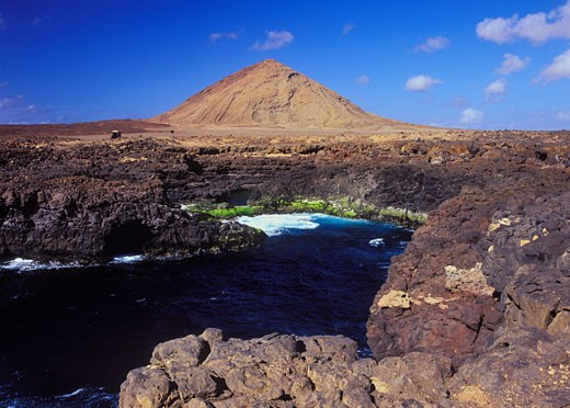 Buracona Pool, Santa Maria, Sal Island, Cape Verde    : Stock Photo