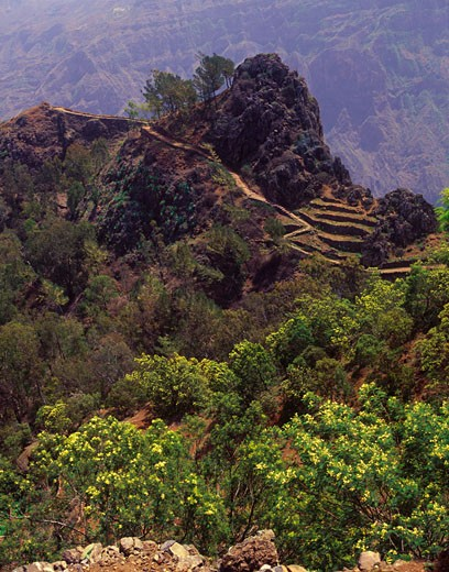 Pico da Cruz, Santo Antao Island, Cape Verde    : Stock Photo