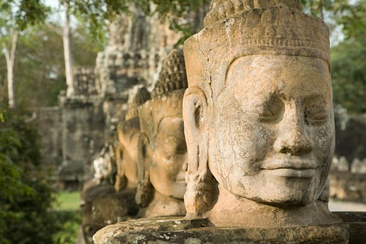 South Gate, Angkor Thom, Angkor, Cambodia    : Stock Photo
