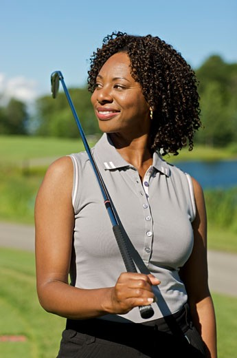 Portrait of Golfer, Burlington, Ontario, Canada    : Stock Photo