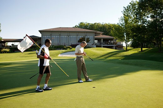 Men Golfing, Burlington, Ontario, Canada    : Stock Photo