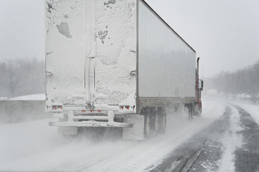 Truck on Highway, Ontario, Canada    : Stock Photo