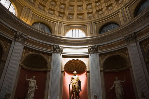 Stock Photo: 1828R-60100 Statues, Vatican Museums, Vatican City, Rome, Latium, Italy