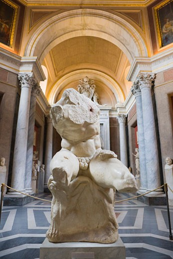 The Belvedere Torso, Vatican Museums, Vatican City, Rome, Latium, Italy    : Stock Photo