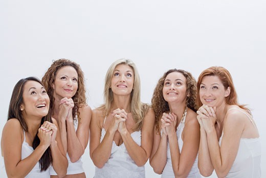 Stock Photo: 1828R-60209 Group of Women Praying