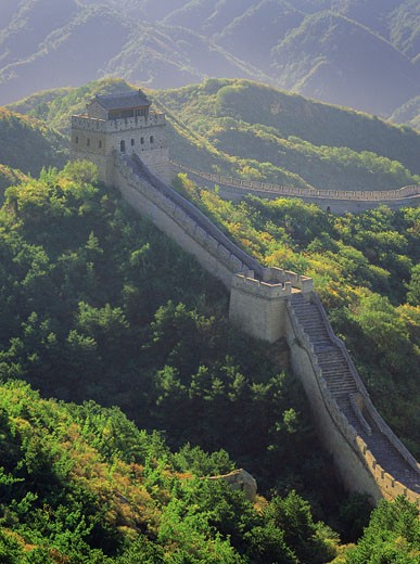 Stock Photo: 1828R-6041 Great Wall, Badaling, China