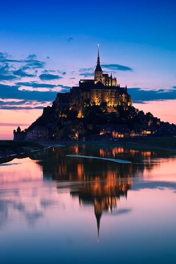 Stock Photo: 1828R-61602 Mont Saint Michel, Normandy, France