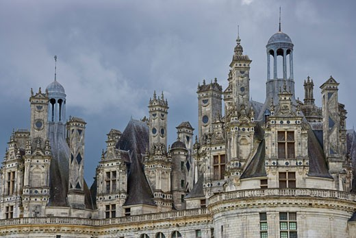 Stock Photo: 1828R-61642 Chateau de Chambord, Loir-et-Cher, Loire Valley, France