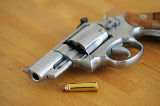 Stock Photo: 1828R-61692 357 Magnum and Bullet