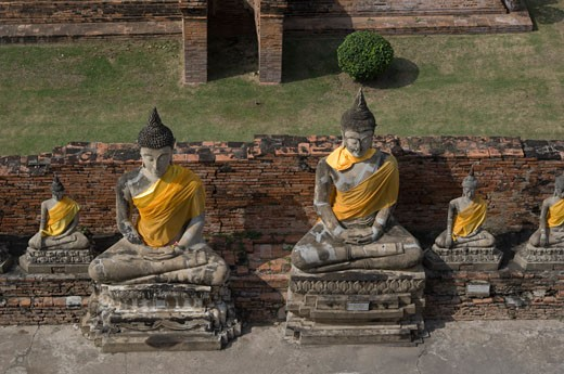 Stock Photo: 1828R-61902 Statues, Ayutthaya, Thailand