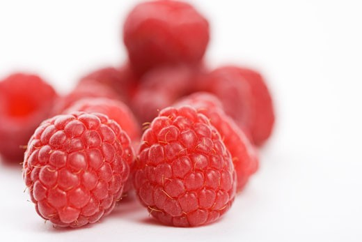 Stock Photo: 1828R-61943 Raspberries