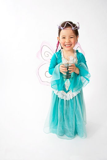 Stock Photo: 1828R-62283 Girl Dressed as Fairy
