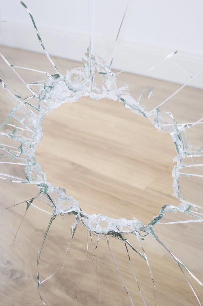 Stock Photo: 1828R-63014 Broken Window