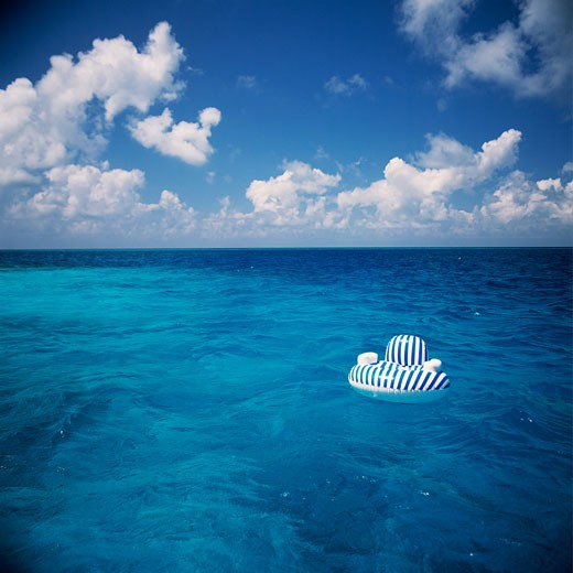Stock Photo: 1828R-64003 Seascape, Floating Inflatable Chair