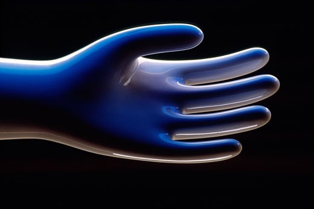 White Ceramic Hand, Abstract : Stock Photo