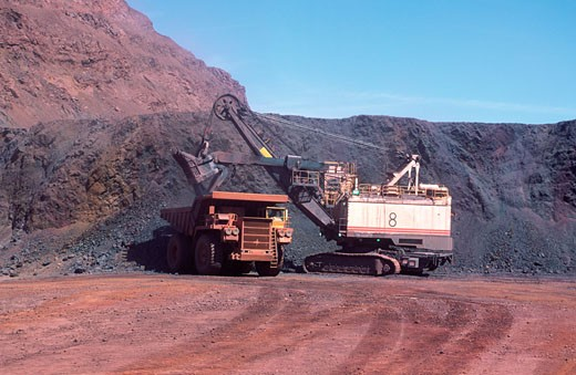 Iron Ore Mining, Open Cut, Australia : Stock Photo