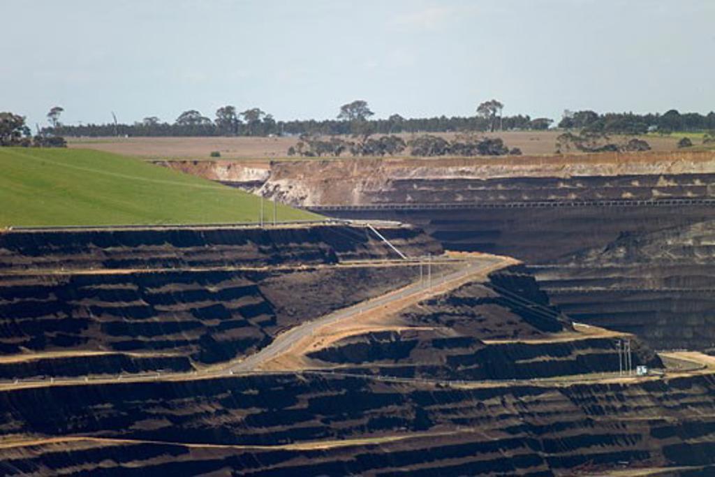 Stock Photo: 1828R-64536 Brown Coal Mining, La Trobe Valley, Australia