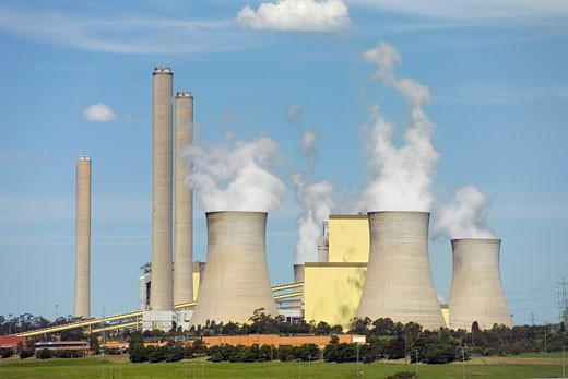 Stock Photo: 1828R-64538 Brown Coal Coal Power Station, La Trobe Valley, Australia