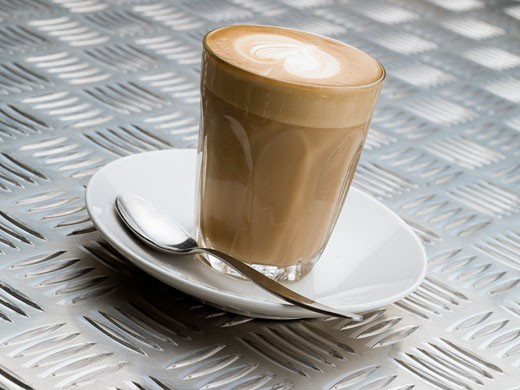 Stock Photo: 1828R-64735 Latte Coffee