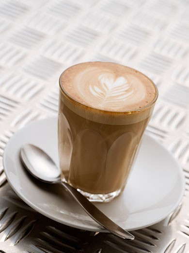 Stock Photo: 1828R-64736 Latte Coffee
