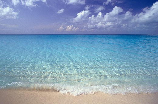 Stock Photo: 1828R-6518 Ocean Shoreline, Turks and Caicos, British West Indies