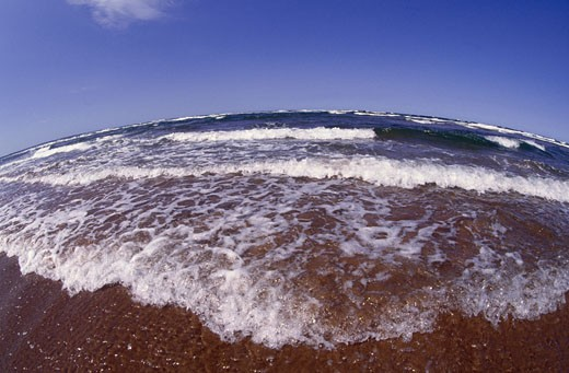 Stock Photo: 1828R-6519 Shoreline at Brackley Beach, Prince Edward Island, Canada