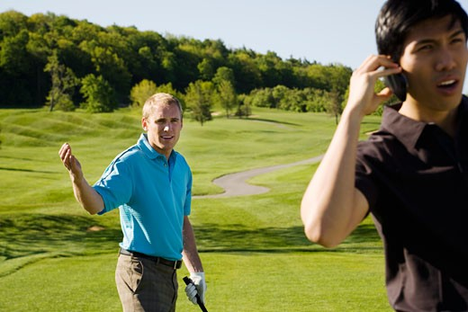 Men Playing Golf                                                                                                                                                                                         : Stock Photo