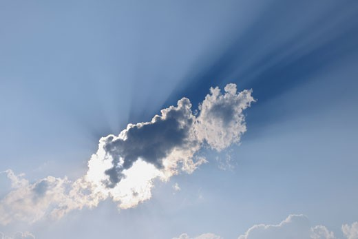 Stock Photo: 1828R-65825 Sun Behind Cloud
