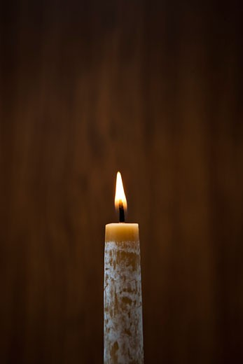 Stock Photo: 1828R-66331 Lit Candle