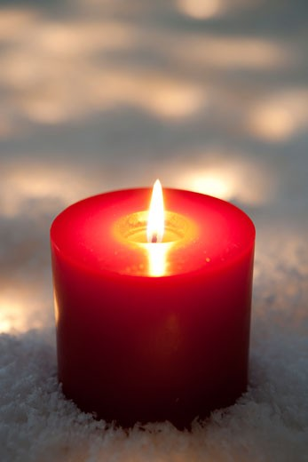 Stock Photo: 1828R-66363 Lit Candle