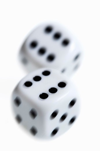 Black and White Dice : Stock Photo