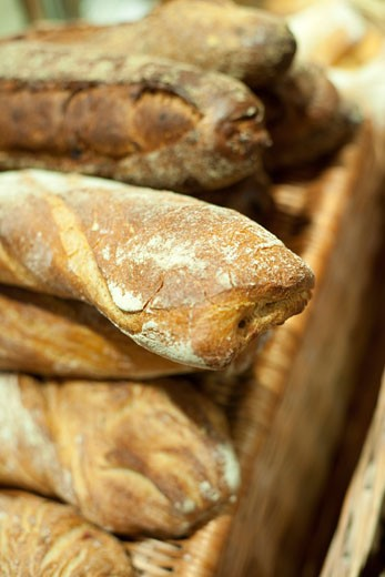 Stock Photo: 1828R-66974 Close-up of Bread in a Bakery