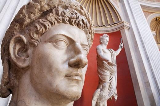 Stock Photo: 1828R-67184 Sculptures inside Vatican Museum, Vatican City, Rome, Italy