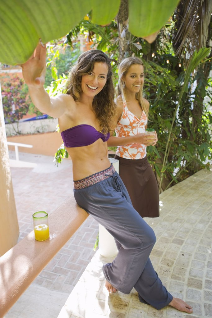 Stock Photo: 1828R-67863 Two Women Relaxing at Hotel, Punta Burros, Nayarit, Mexico