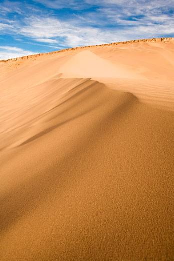 Stock Photo: 1828R-68094 Sand Dune in Valle de la Muerte, Los Flamencos National Reserve, Atacama Desert, Chile