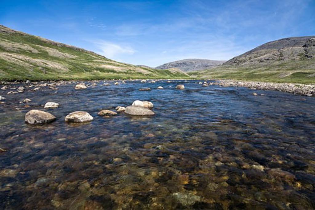 Stock Photo: 1828R-68382 Soper River, Katannilik Territorial Park Reserve, Baffin Island, Nunavut, Canada