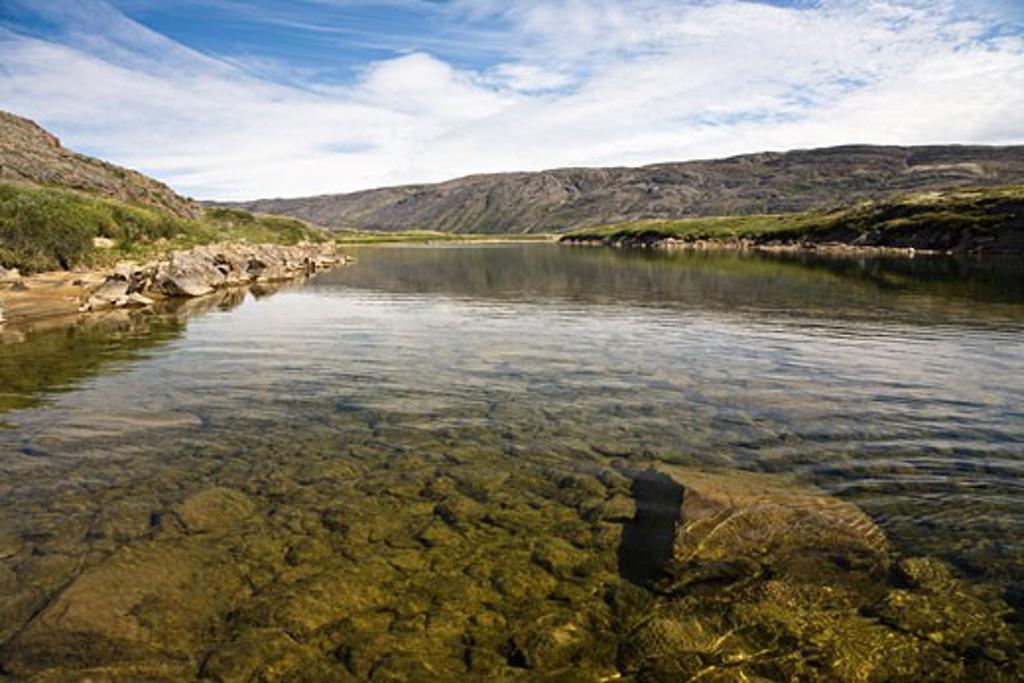 Stock Photo: 1828R-68392 Soper River, Katannilik Territorial Park Reserve, Baffin Island, Nunavut, Canada