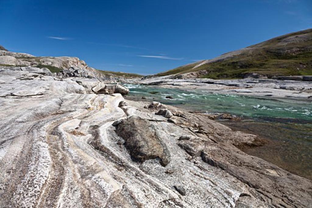 Stock Photo: 1828R-68394 Soper River, Katannilik Territorial Park Reserve, Baffin Island, Nunavut, Canada