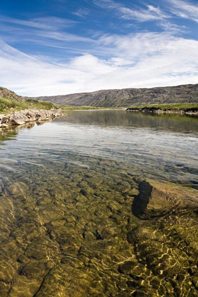Stock Photo: 1828R-68533 Soper River, Katannilik Territorial Park Reserve, Baffin Island, Nunavut, Canada
