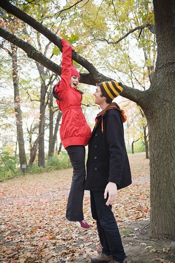 Stock Photo: 1828R-68605 Couple Outdoors in Autumn