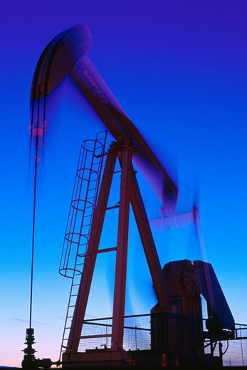 Stock Photo: 1828R-6961 Oil Pump Jack, California, USA