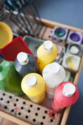 Stock Photo: 1828R-69632 Close-up of Paints
